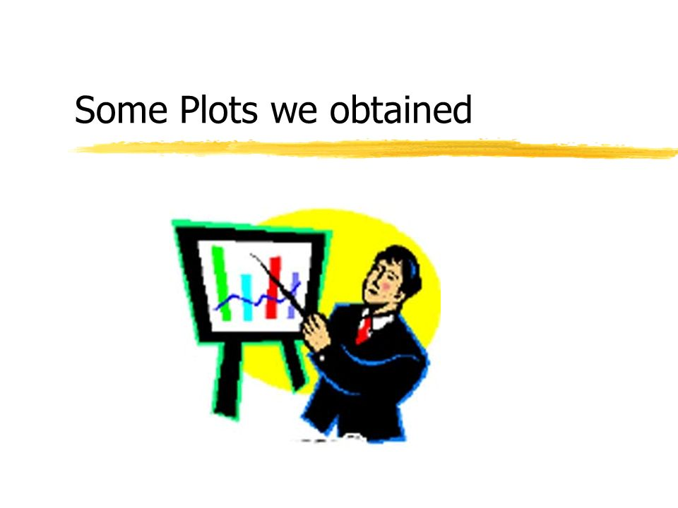Some Plots we obtained