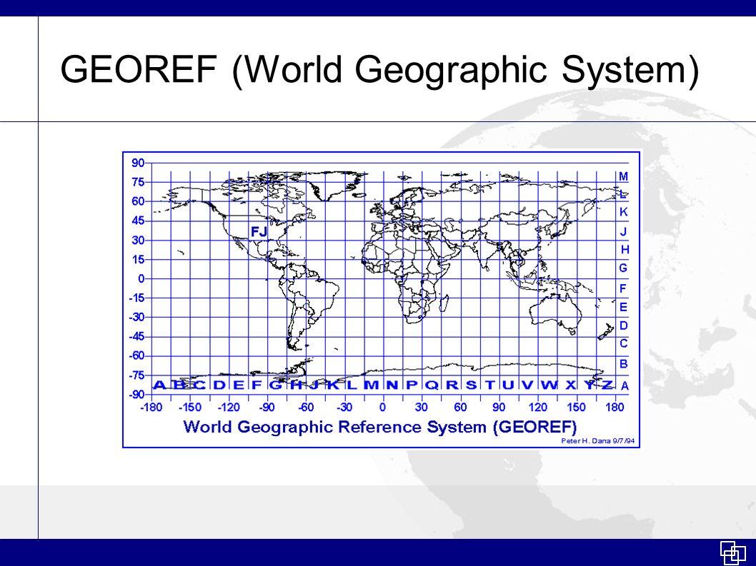 GEOREF (World Geographic System)