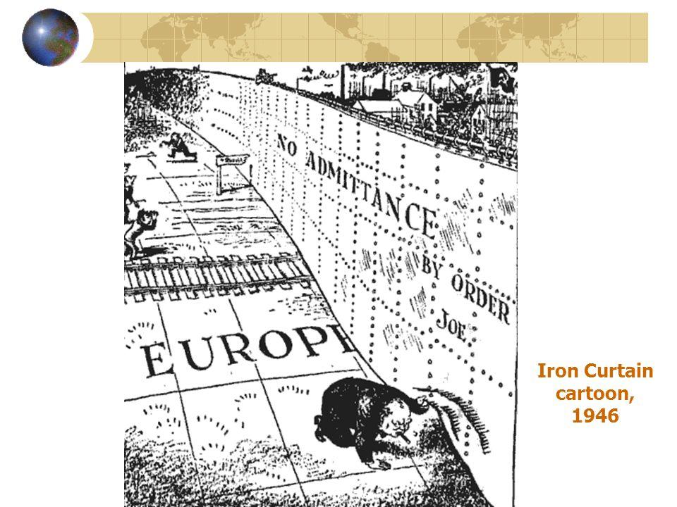 Iron Curtain cartoon, 1946