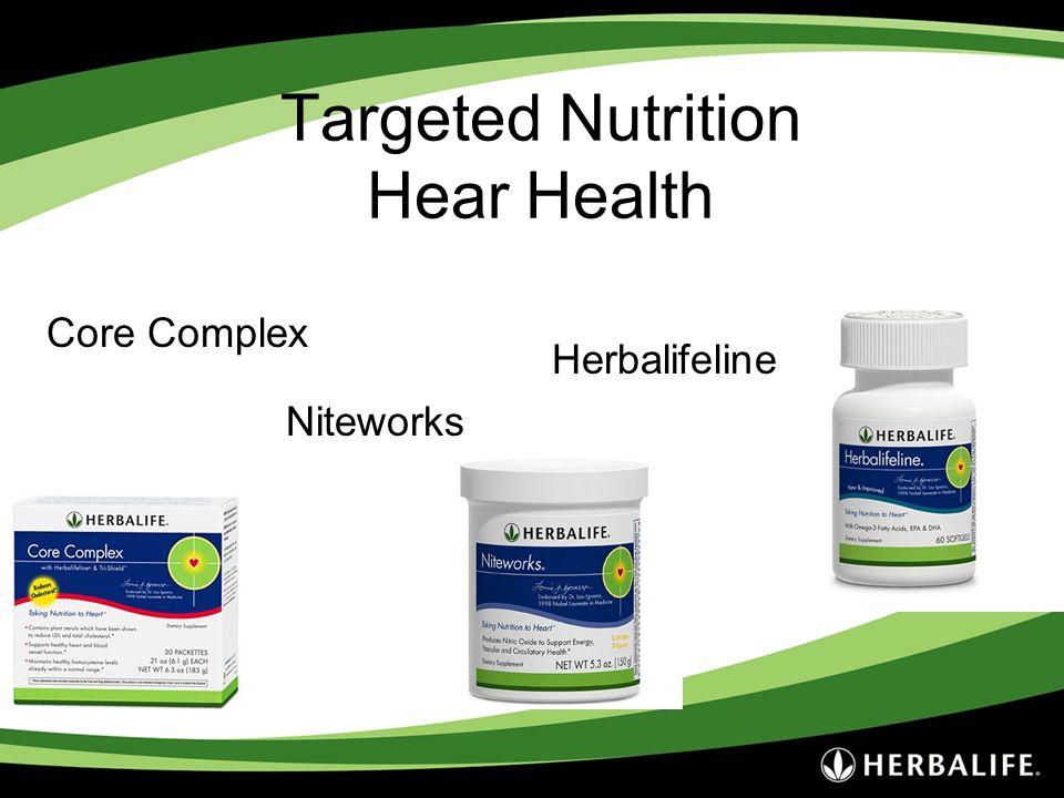 Targeted Nutrition Hear Health Core Complex Niteworks Herbalifeline