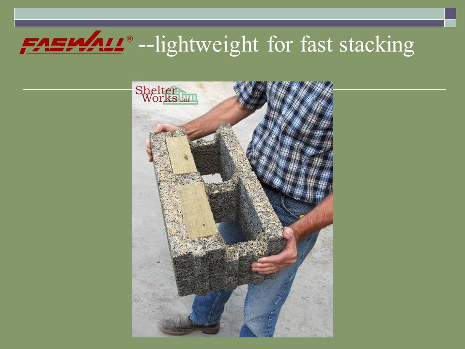 -- lightweight for fast stacking