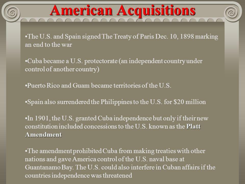 A Splendid Little War Secretary of State John Hay called the Spanish American War a splendid little war The war lasted four months and 400 Americans d