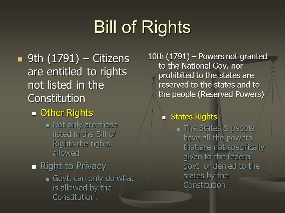 Amendments 11th (1798) – Rules for lawsuits against states 11th (1798) – Rules for lawsuits against states Citizens of other States or foreign countries cannot sue a State in federal court without its consent.