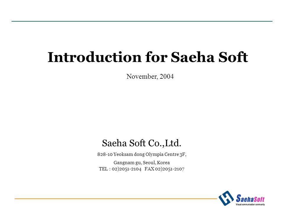 November, 2004 Saeha Soft Co.,Ltd.