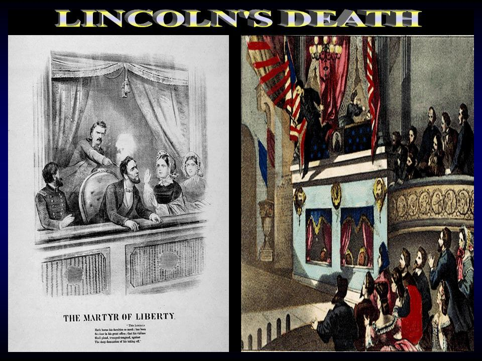 On April 14, 1865, Booth shot President Lincoln while he was watching a play at Fords Theater. Booth was shot to death after he had fled from the thea