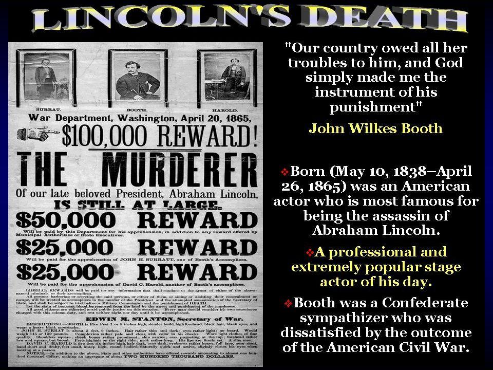 Sketch of Lincolns death