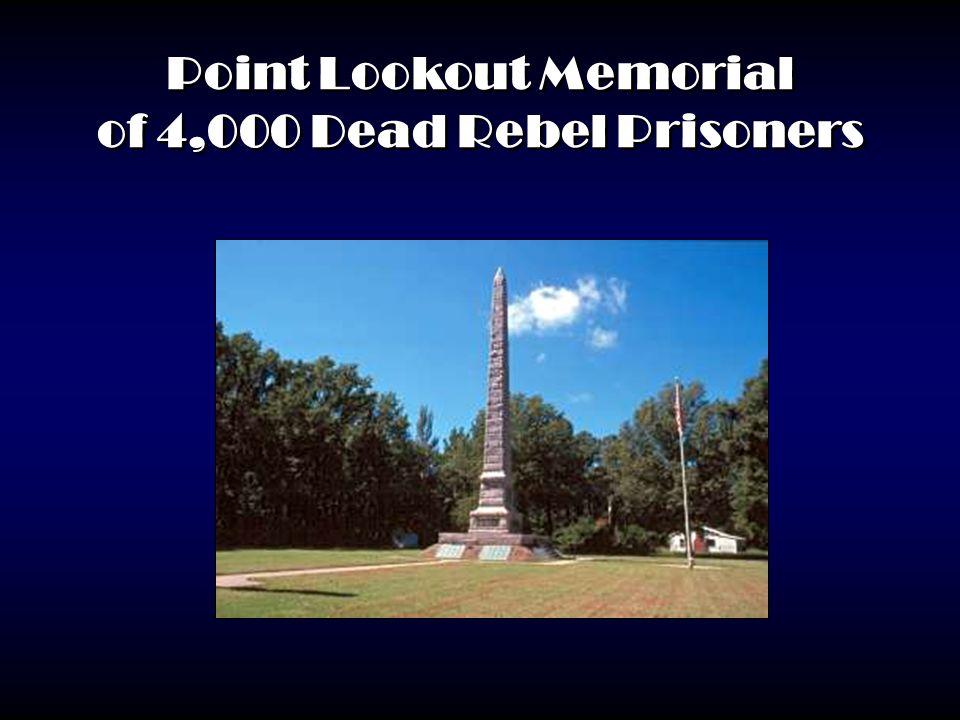Point Lookout Memorial of 4,000 Dead Rebel Prisoners