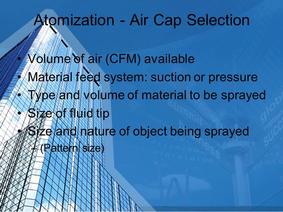 Atomization - Suction vs Pressure Feed Cap Suction Pressure