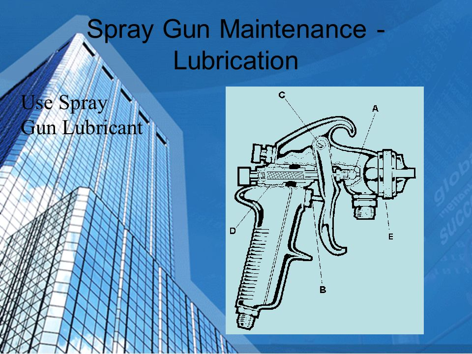 Spray Gun Maintenance – Rule #1