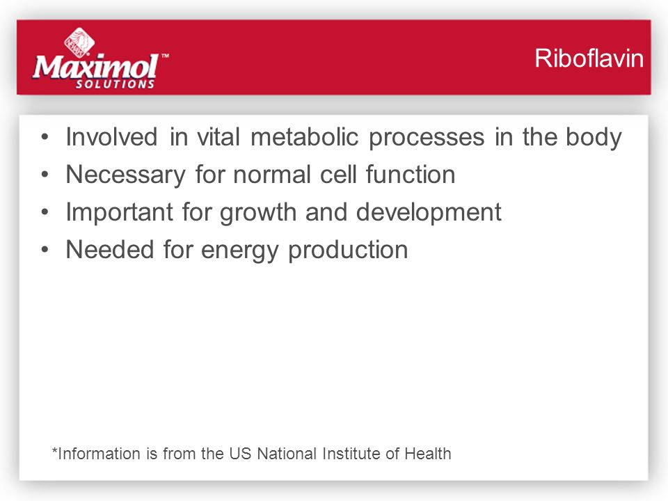 Involved in vital metabolic processes in the body Necessary for normal cell function Important for growth and development Needed for energy production