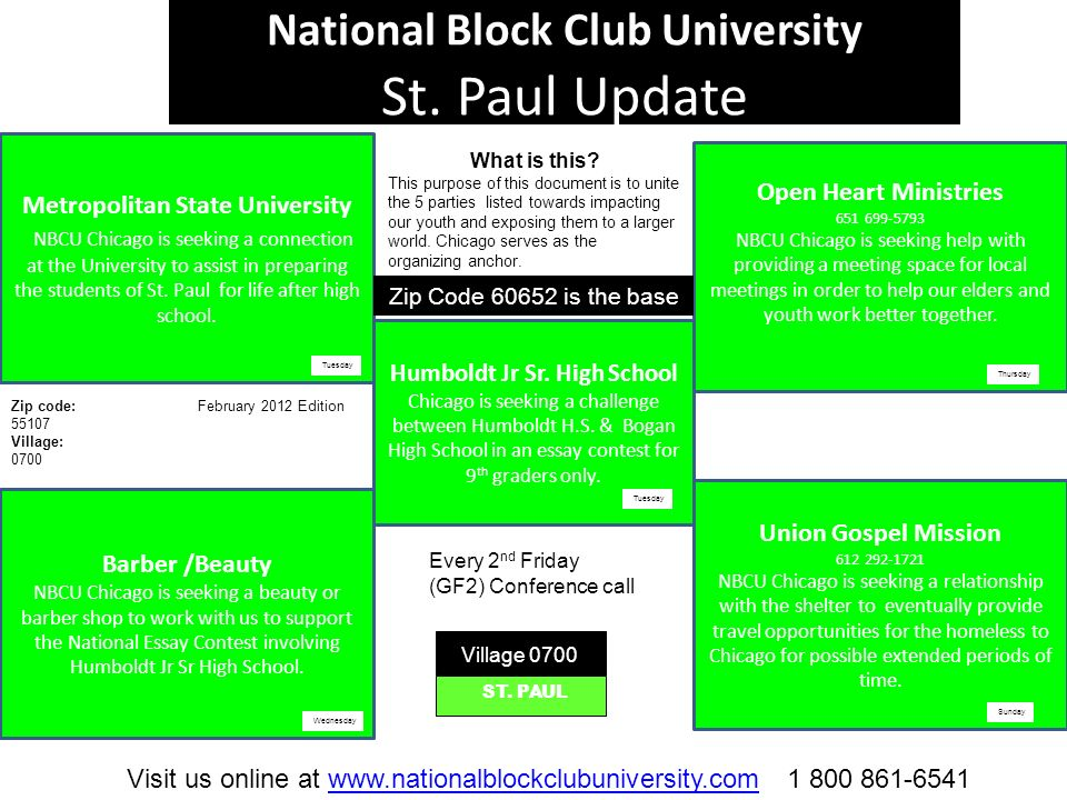 National Block Club University St.