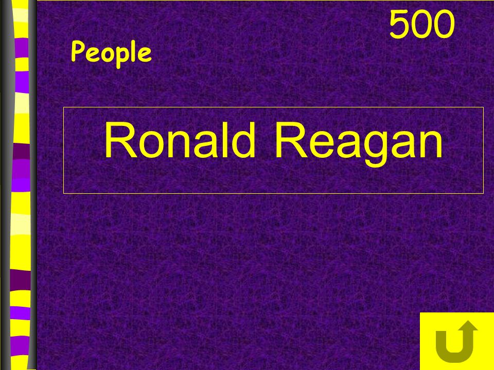 500 People Ronald Reagan