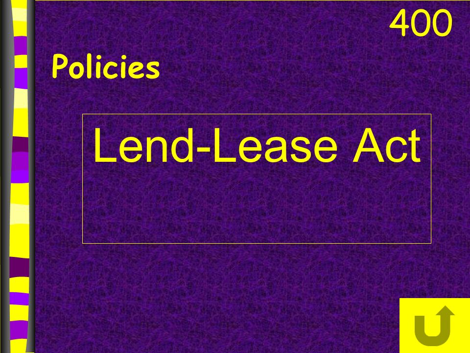 Lend-Lease Act 400 Policies
