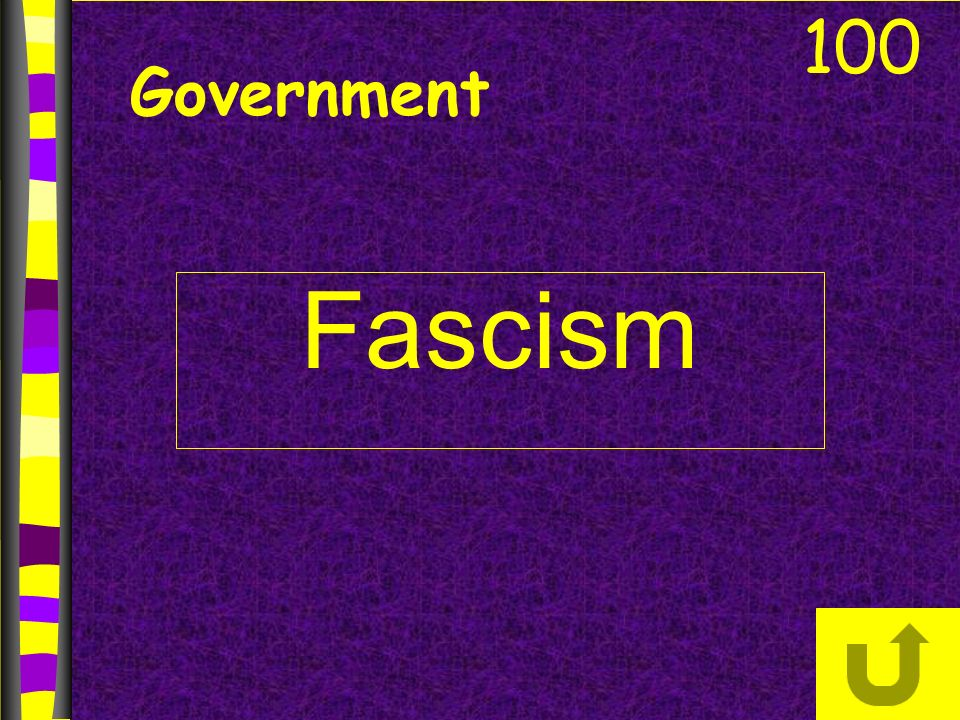 Government Fascism 100