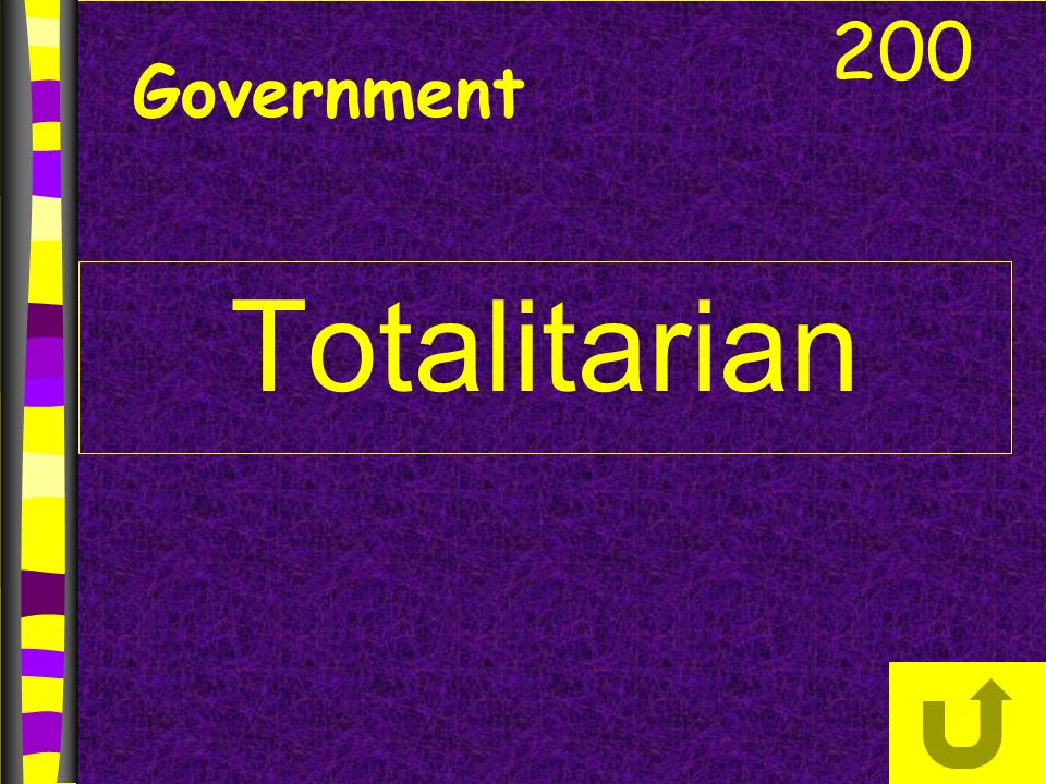Government Totalitarian 200