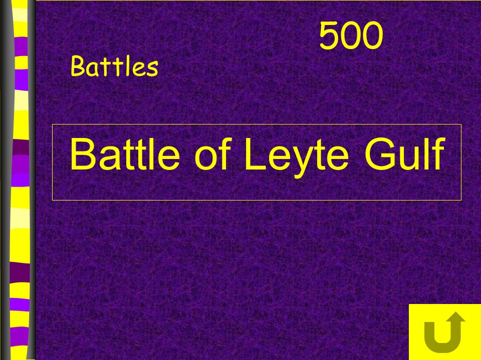 Battle of Leyte Gulf 500 Battles