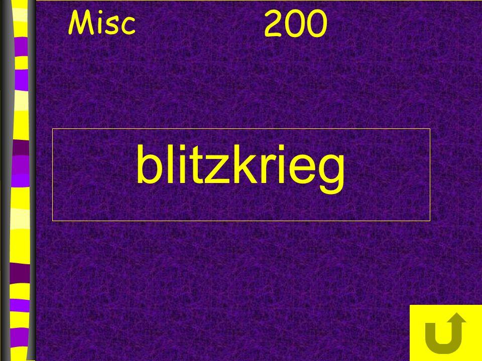blitzkrieg 200 Misc