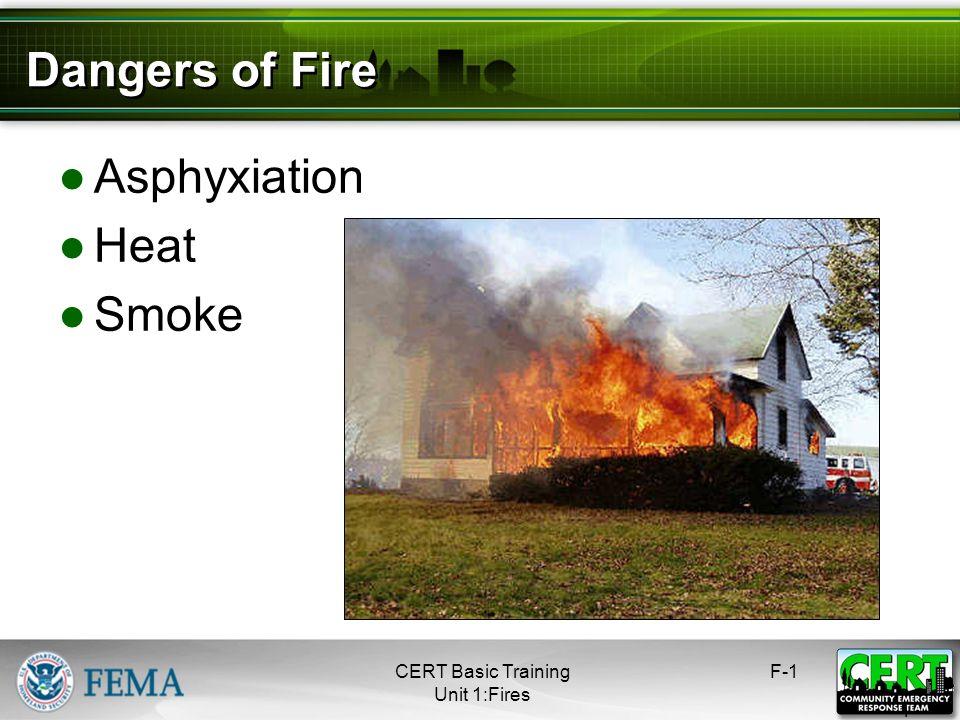Fire CERT Basic Training Hazards