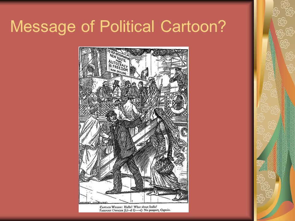 Message of Political Cartoon