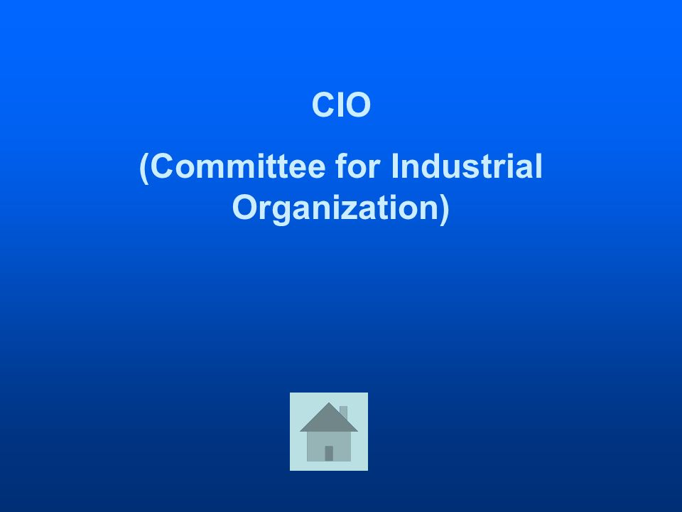 CIO (Committee for Industrial Organization)