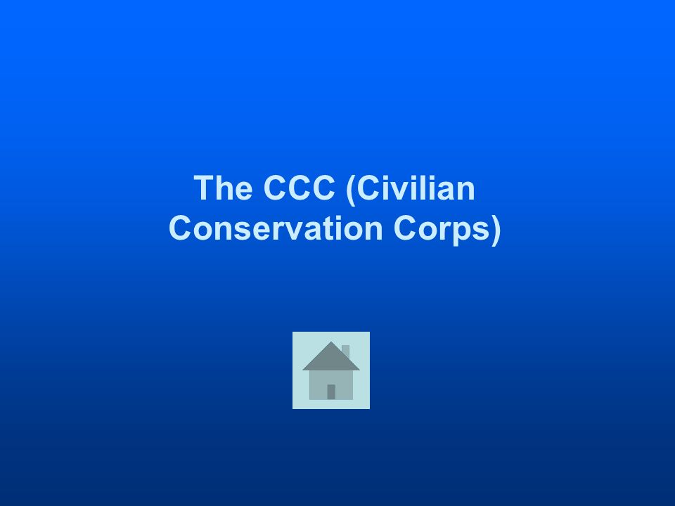 The CCC (Civilian Conservation Corps)