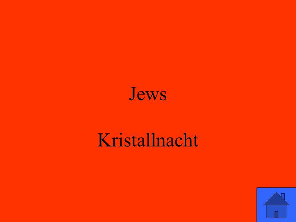 Jews Kristallnacht