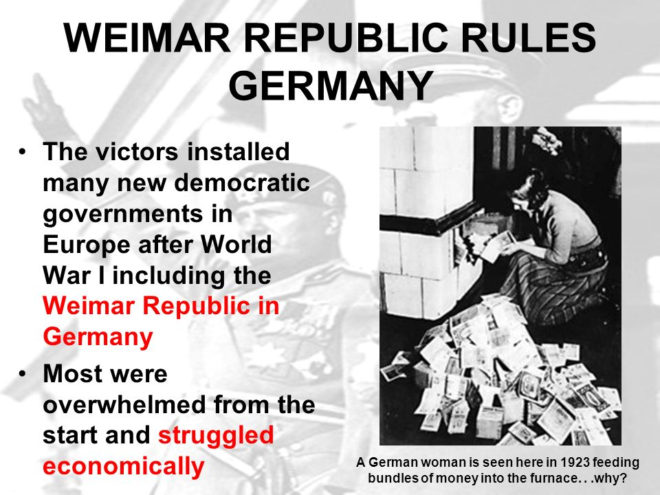 HITLER GAINS FOLLOWING Hitlers ability as a public speaker and organizer drew many followers He quickly became the Nazi Party leader Calling himself Der Fuhrer (the leader) he promised to return Germany to its old glory