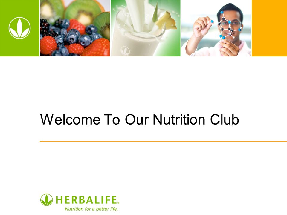 Welcome To Our Nutrition Club