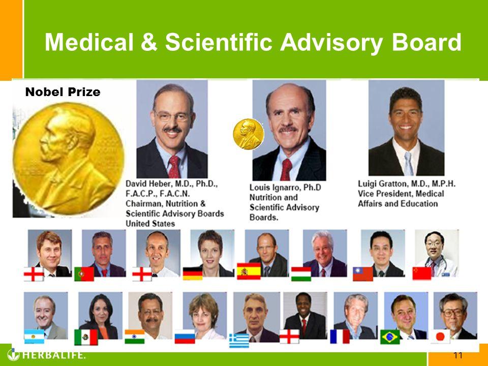 11 Nobel Prize Medical & Scientific Advisory Board