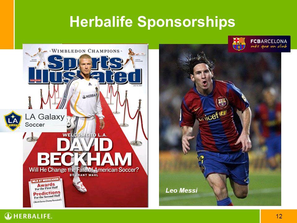 12 Herbalife Sponsorships Leo Messi