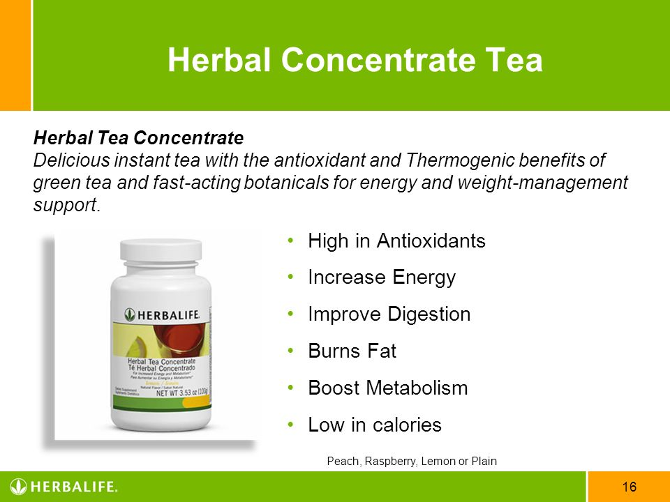 16 Herbal Concentrate Tea High in Antioxidants Increase Energy Improve Digestion Burns Fat Boost Metabolism Low in calories Herbal Tea Concentrate Del