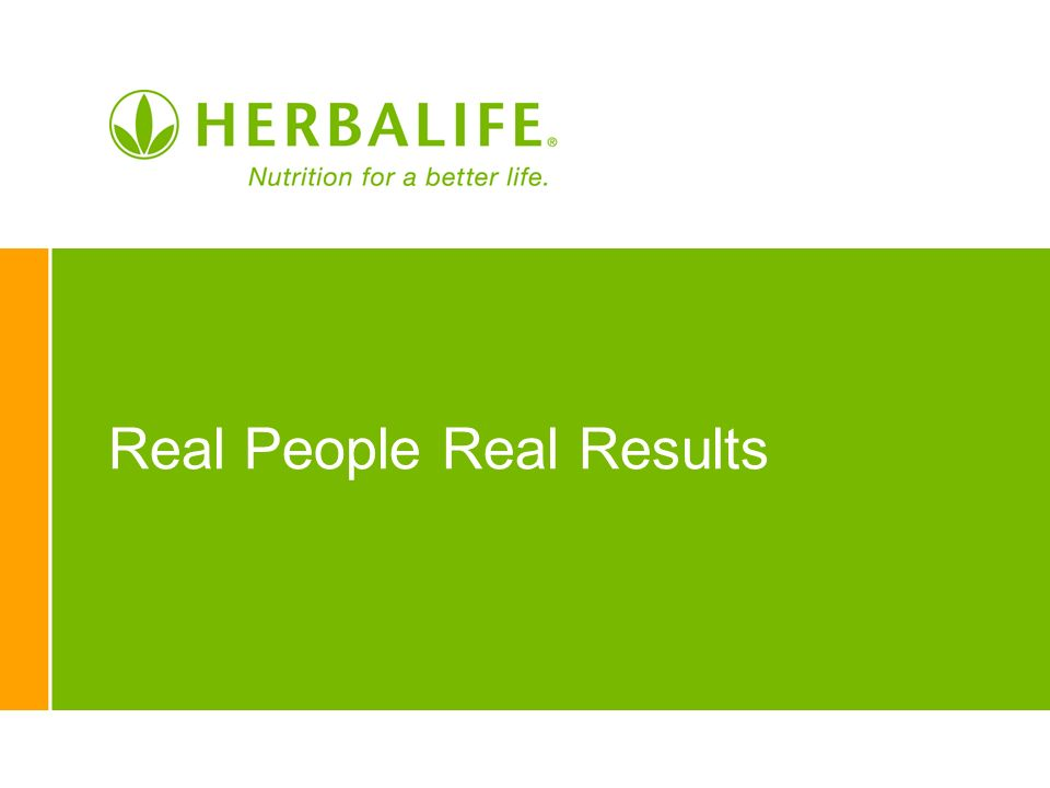 Real People Real Results