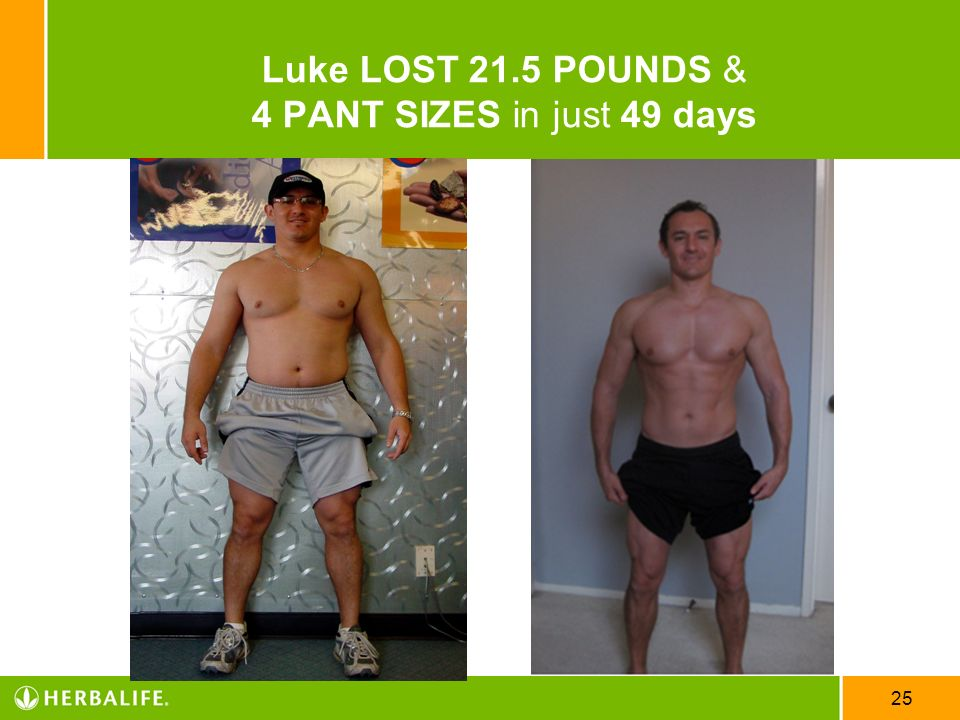 25 Luke LOST 21.5 POUNDS & 4 PANT SIZES in just 49 days