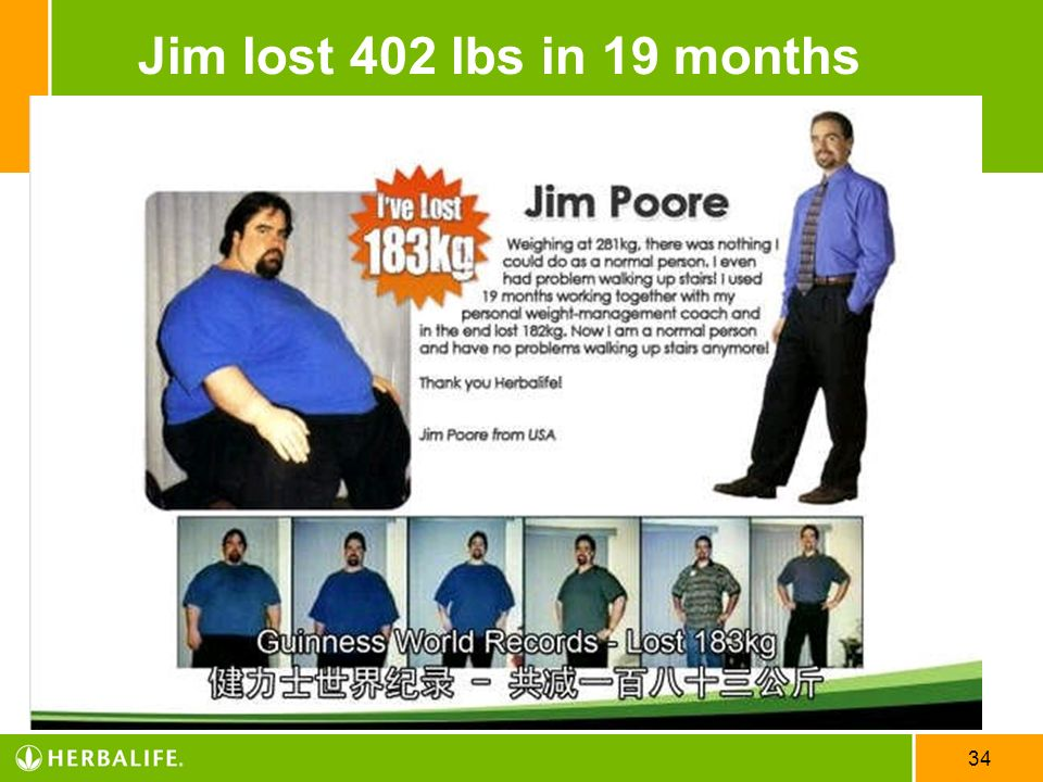 34 Jim lost 402 lbs in 19 months