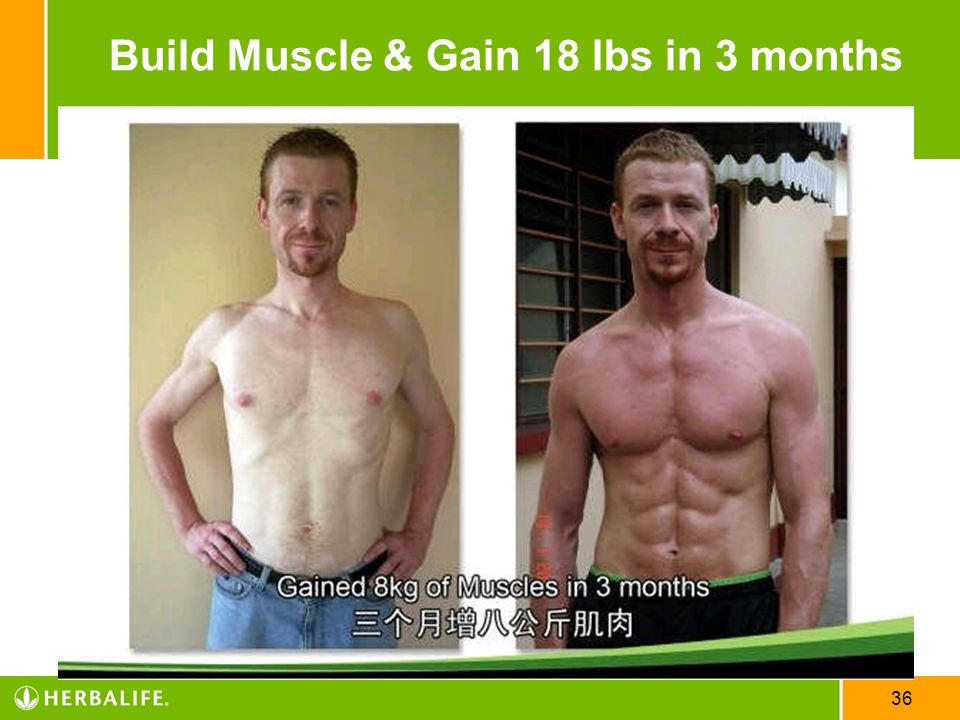 36 Build Muscle & Gain 18 lbs in 3 months