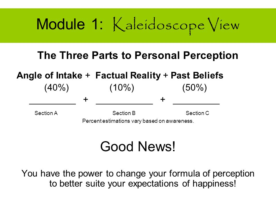 Workbook Exercise Module 1 Section C : Past Beliefs Pull Your Memory File Out and Think Back to Last Week Use the scale of numbers from 10 thru 1. 10