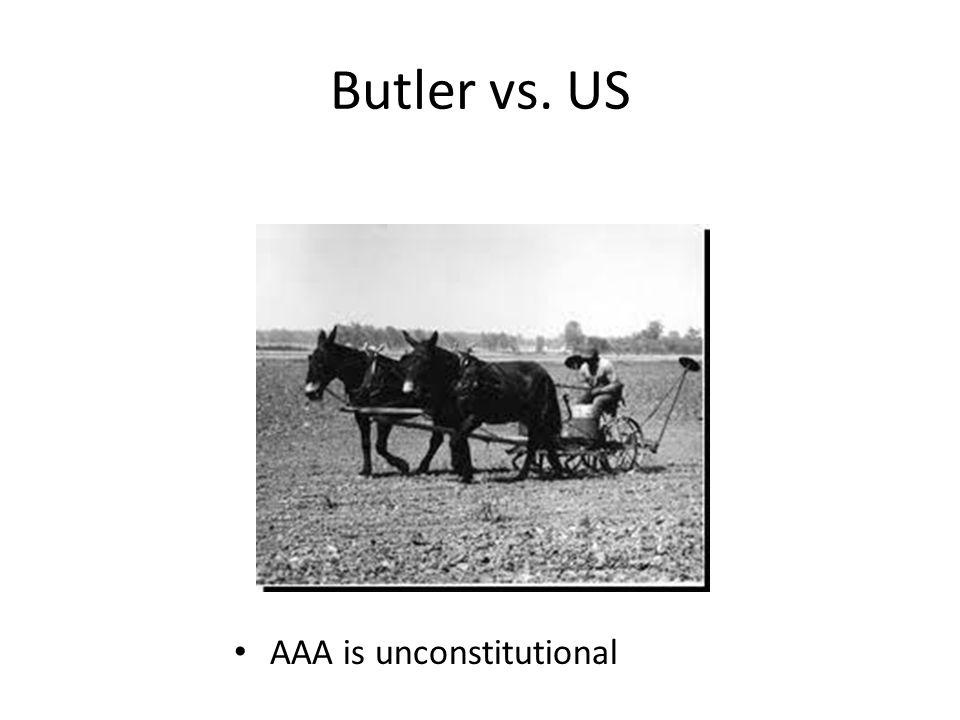Butler vs. US AAA is unconstitutional