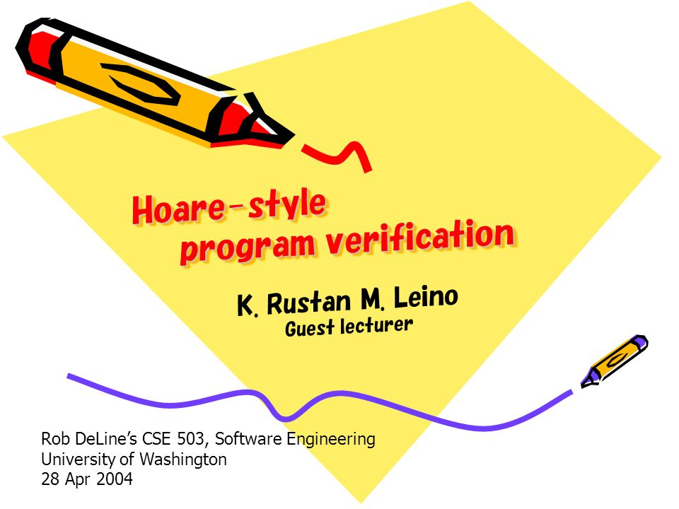 Hoare-style program verification K. Rustan M.