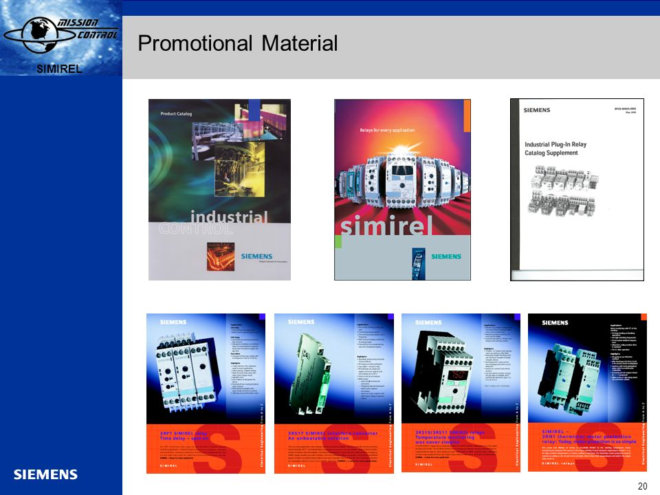 Automation and Drives s SIRIUS 20 SIMIREL s Promotional Material