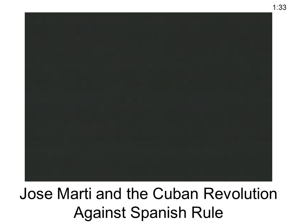 Jose Marti and the Cuban Revolution Against Spanish Rule 1:33