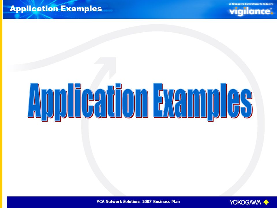 YCA Network Solutions 2007 Business Plan Application Examples
