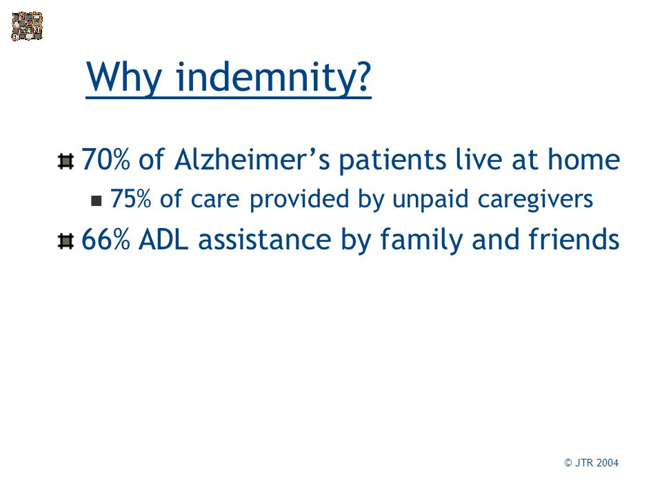 Why indemnity.