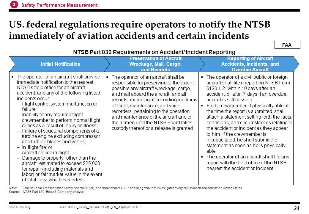 Prepared for ACPACP GAIS - 1_ Safety_Revised Oct 2011_EN_vf.pptBooz & Company 23 FAAs Annual general aviation activity survey helps establish fleet si
