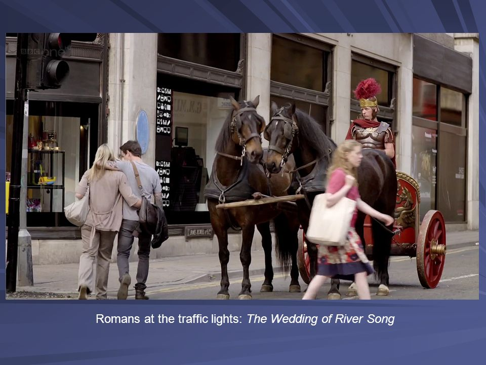 Romans at the traffic lights: The Wedding of River Song
