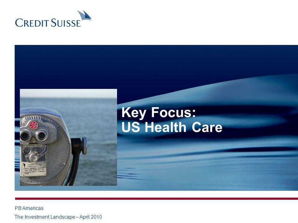 PB Americas The Investment Landscape – April 2010 Key Focus: US Health Care