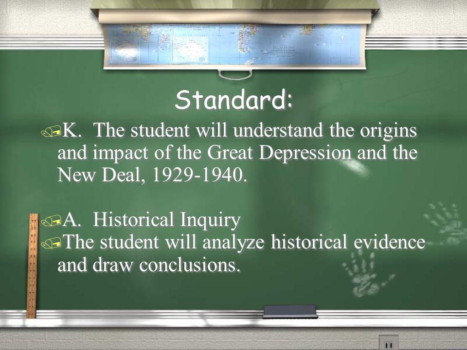 Standard: / K.