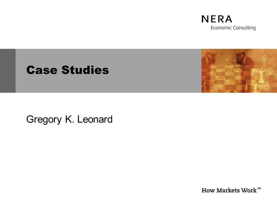 Case Studies Gregory K. Leonard