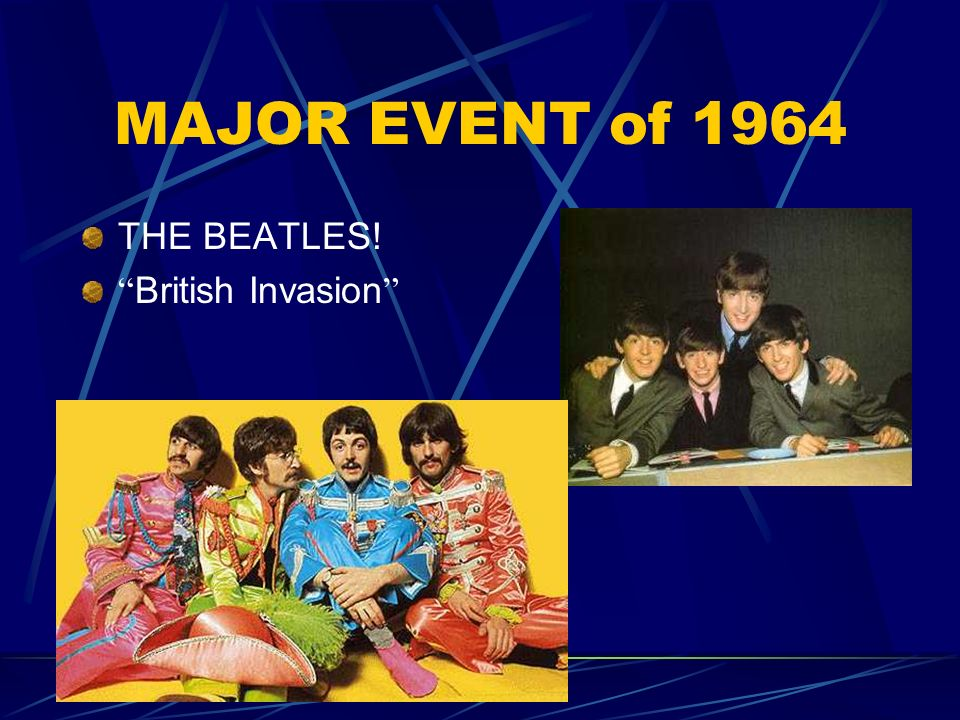 MAJOR EVENT of 1964 THE BEATLES! British Invasion