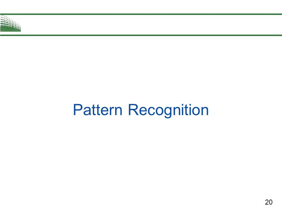 20 Pattern Recognition
