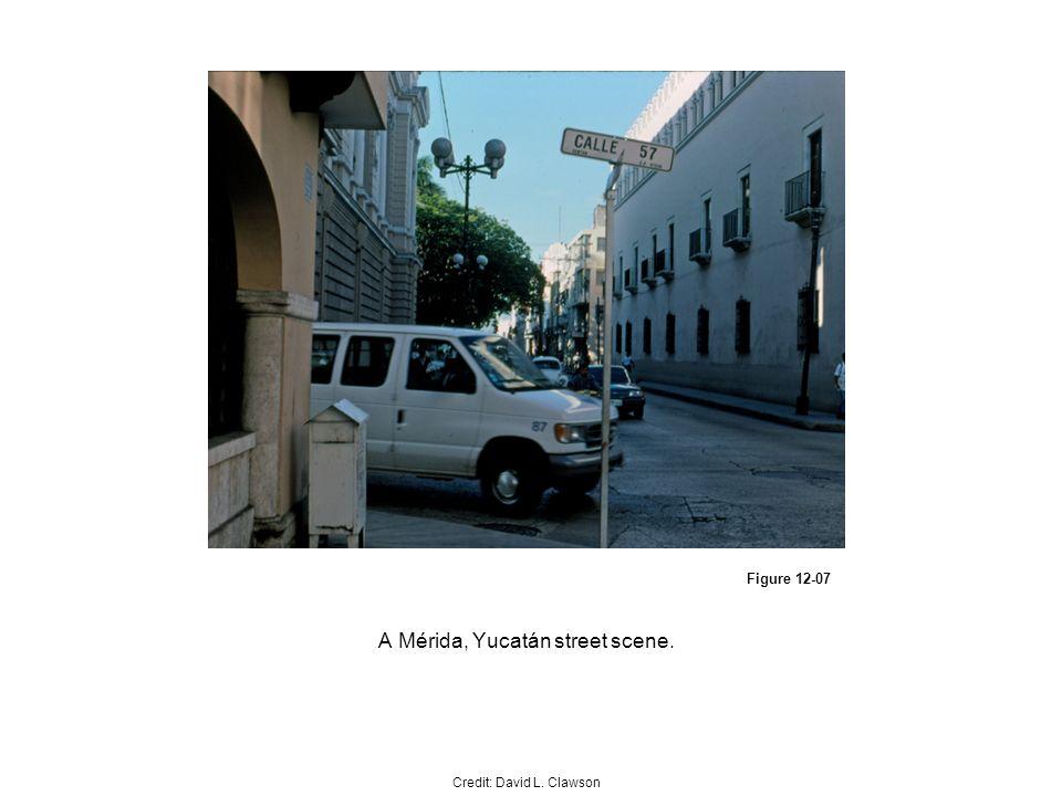 Figure 12-07 A Mérida, Yucatán street scene. Credit: David L. Clawson